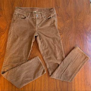 Skinny Leg Corduroy Pants